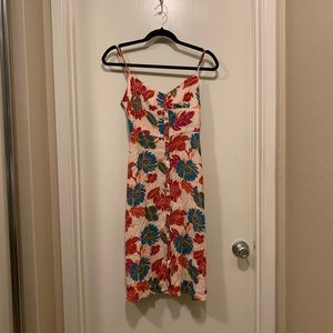 🔴NWT F21 Floral Button-Front Dress